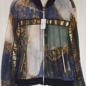 NWT $1000 Versace Collection Mesh Jacket Sz 48 (M)